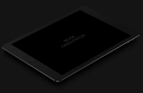 Dark iPad Pro PSD Mockup