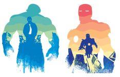 Watercolor Iron Man & Hulk Vector Illustration