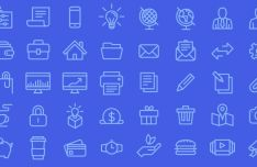 40 Business Line Icons (AI+EPS+SVG)