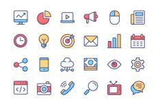24 Marketing Icons (AI+PNG+SVG)