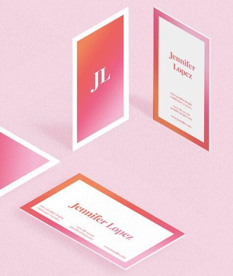 Vertical Horizontal Gradient Business Card Templates Vector