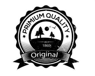 Vintage Premium Quality Badge Vector
