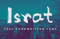 Israt Brush Font