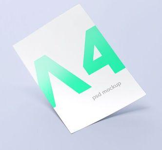 Minimal Realistic A4 Paper PSD Mockup