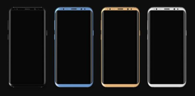 Samsung Galaxy S8 Vector Model & PSD Mockup