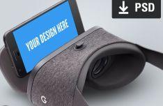 Daydream Google VR PSD Mockup