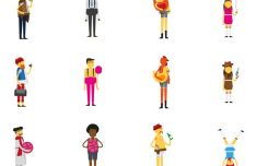12 Vector Characters
