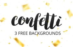 3 Confetti Vector Backgrounds