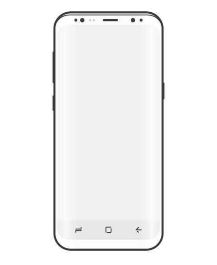 Minimal Samsung S8 Vector Wireframe