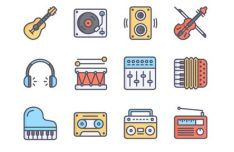 12 Music Vector Icons