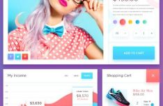Fresh Fashion E-commerce UI Kit PSD