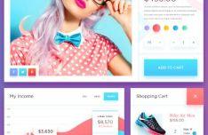 Fresh Fashion E-commerce UI Kit PSD