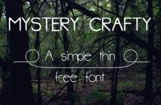 Mystery Crafty Typeface