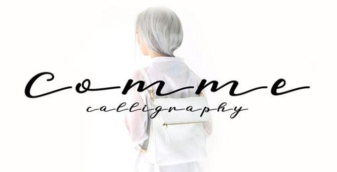Comme Handwritten Calligraphy Typeface