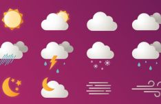 12 Vector Weather Icons