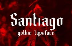 Santiago Gothic Font