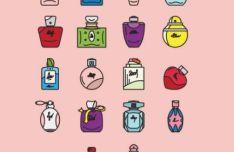 Perfume Icons Vector
