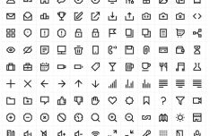 100+ Web Application Line Icons Vector