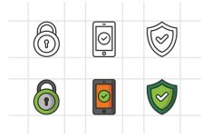 12 Security Icons (2 Versions)