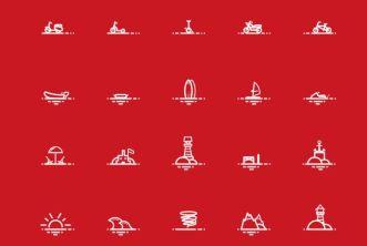 40 Minimal Holiday Icons PSD