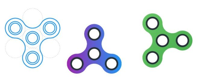 Fidget Spinner Vector