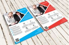 Smart Object Business Flyer PSD Mockup