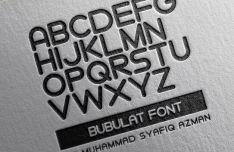 Bubulat Display Font