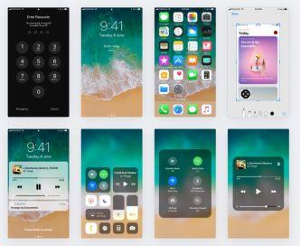 Apple iOS11 GUI Kit