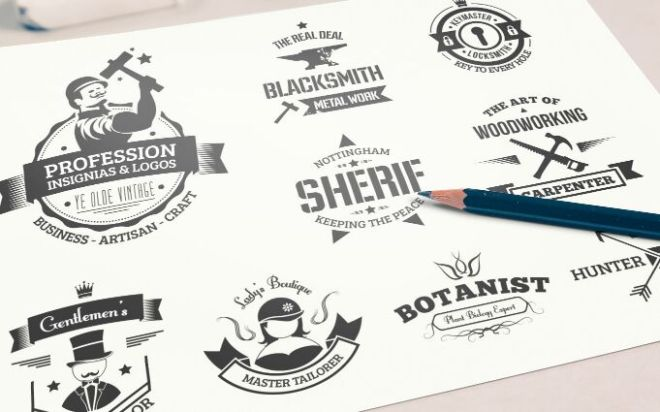 9 Insignia And Logo Mock-ups