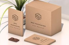 Isometric Packaging Box Mockup