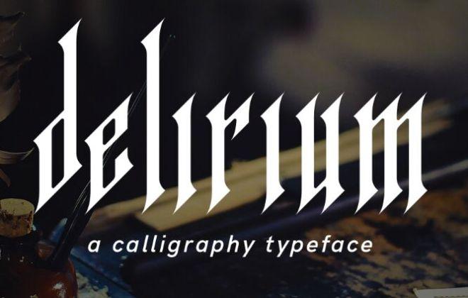 Delirium Geometric Font