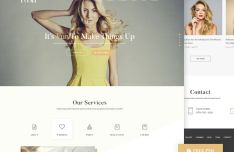 Posh Beauty Web Template PSD