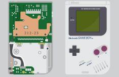Flat Game Boy Vector