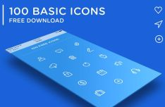 100 Web UI Icons (AI+PSD)