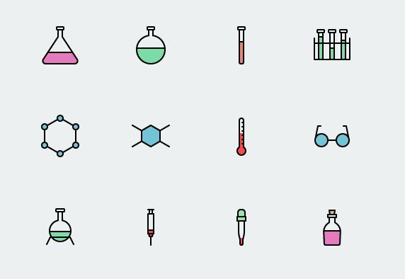 32 Science Icons Vector