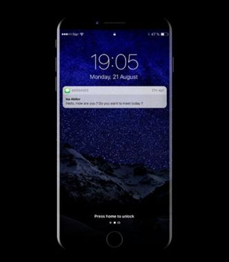Dark iPhone 8 PSD Mockup