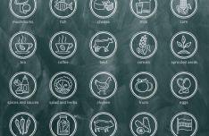 20 Circular Food Icons