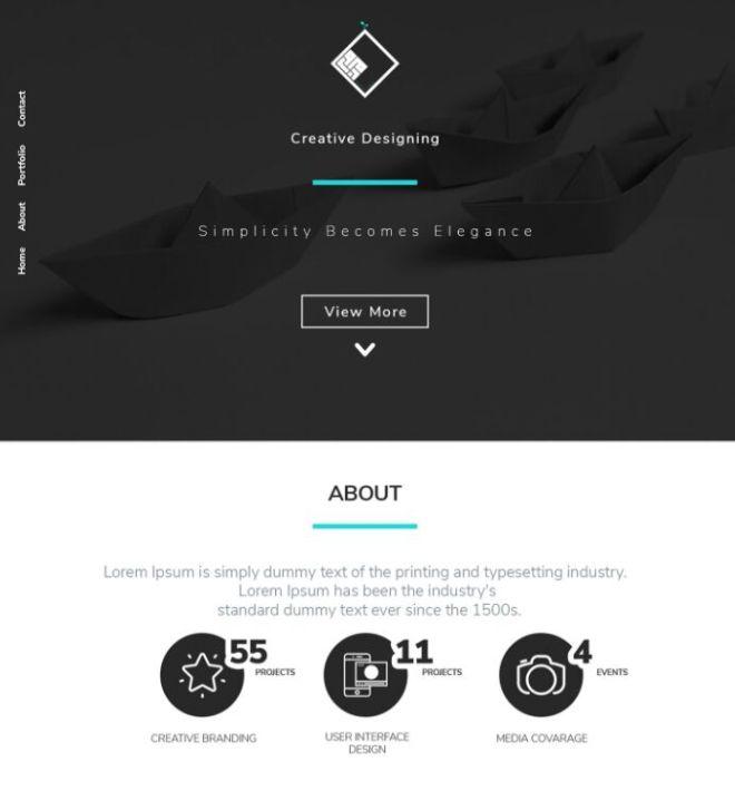 Dark Modern Landing Page PSD Template