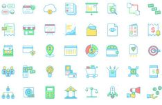 40 Business and Economic Vector Icons