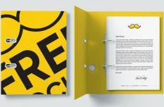 Realistic Folder PSD Mockup
