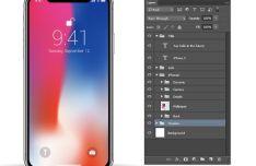 Fully Editable iPhone X Mockups (AI, EPS And PSD)
