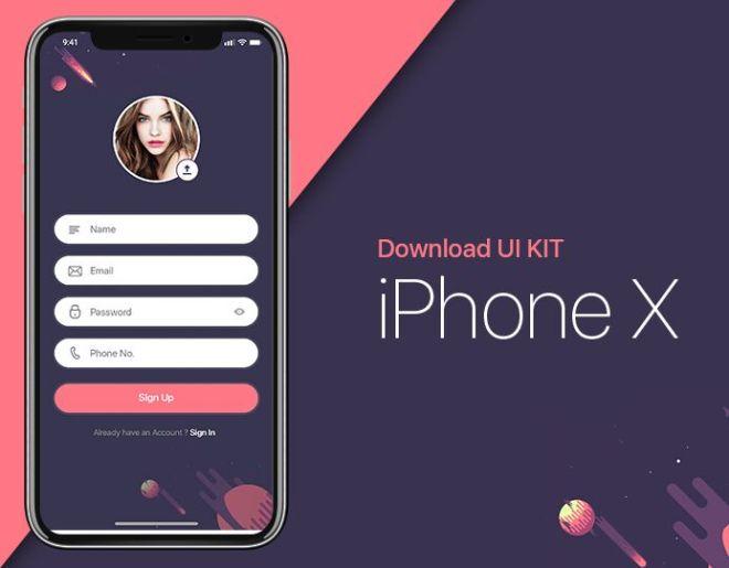 iPhone X Form UI Kit