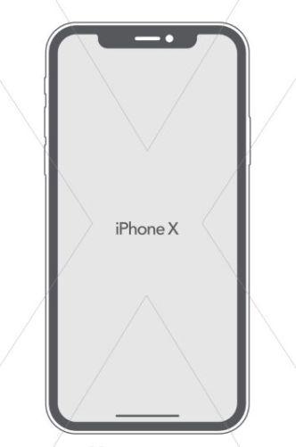 Flat iPhone X Vector Template
