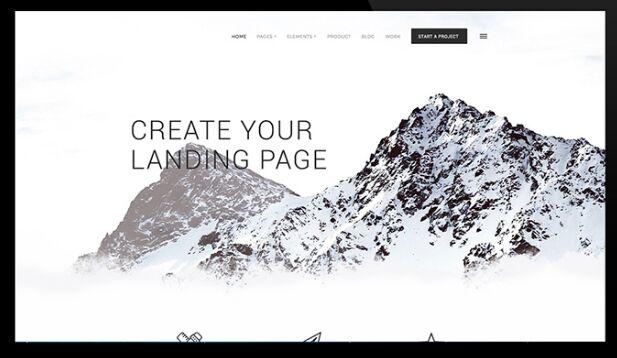 Light Modern Landing Page PSD Template