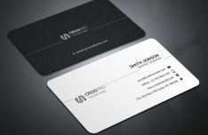 Modern Creative Dark & Light Business Card Mockup PSD