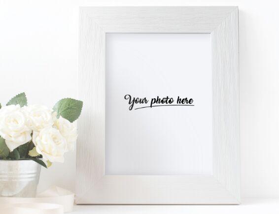 Vintage Photo Frame PSD Mockup