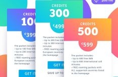 Fresh Clean Pricing Table PSD Template