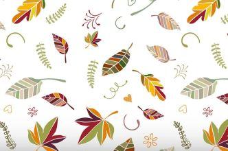 Minimal Autumn Leaves Vector Pattern