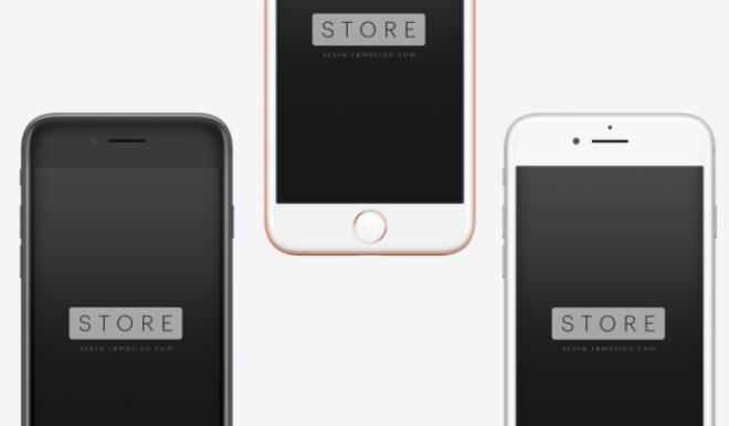 Dark Gold Silver iPhone 8 PSD Mockup