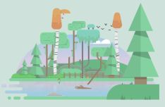 Flat Nature Vector Illustration
